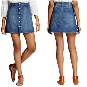 MOSSIMO | Button Down A-Line Denim Jean Skirt